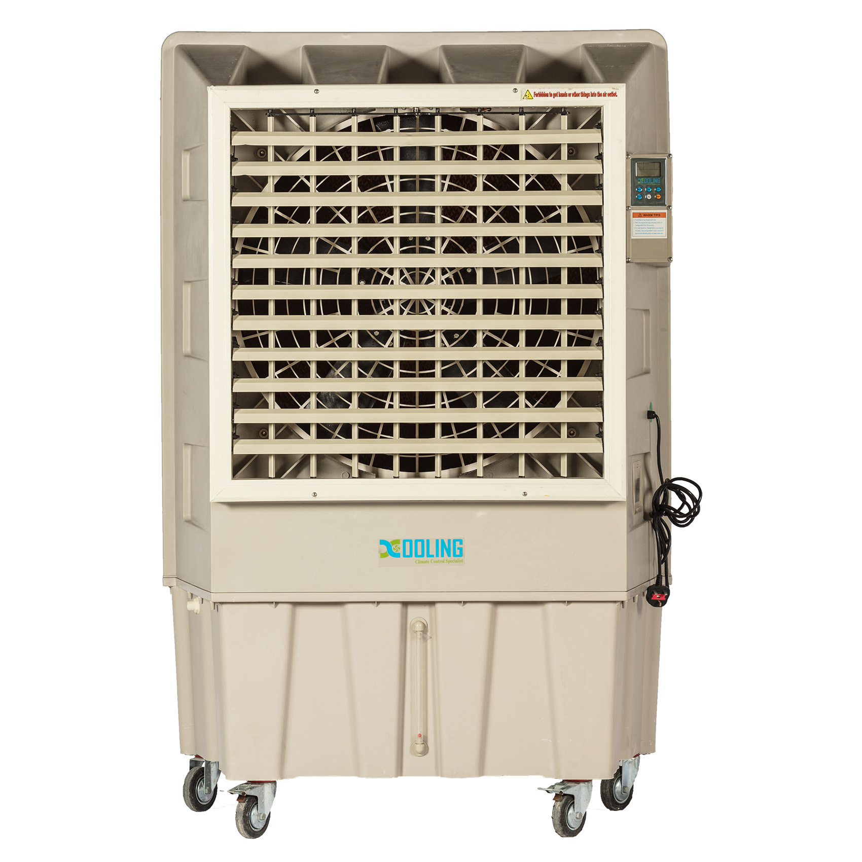 Evaporative outdoor air coolers